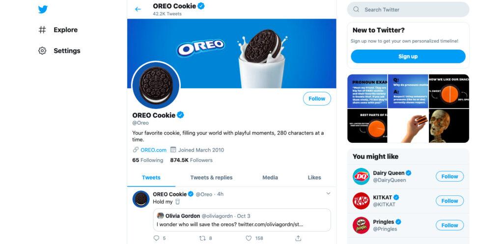 Oreo Twitter